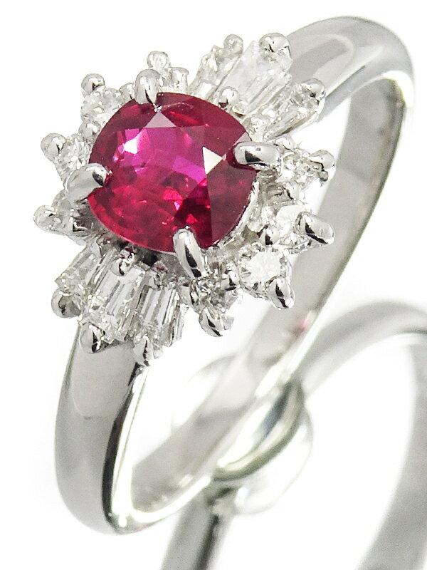 【TASAKI】【鑑別書】タサキ『PT900 ルビー0.65ct ダイヤモンド0.27ct リング』12号 1週間保証【中古】