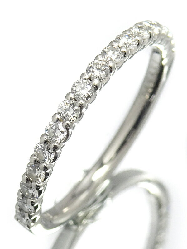 【TASAKI】タサキ『PT900 ダイヤモンド0.23ct ハーフエタニティ リング』7.5号 1週間保証【中古】
