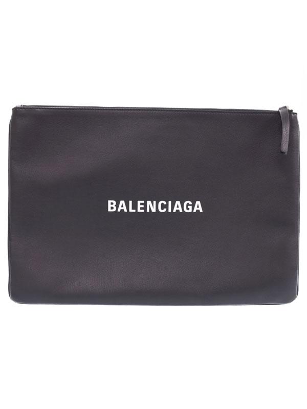 【BALENCIAGA】バレンシアガ『ロゴ クリップ L』485112 メンズ クラッチバッグ 1週間保証【中古】
