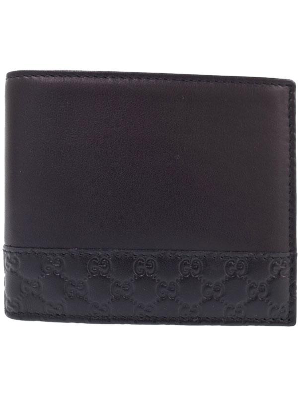 【GUCCI】【小銭入れなし】グッチ『マイクロGG 二つ折り短財布』256408 メンズ 1週間保証【中古】