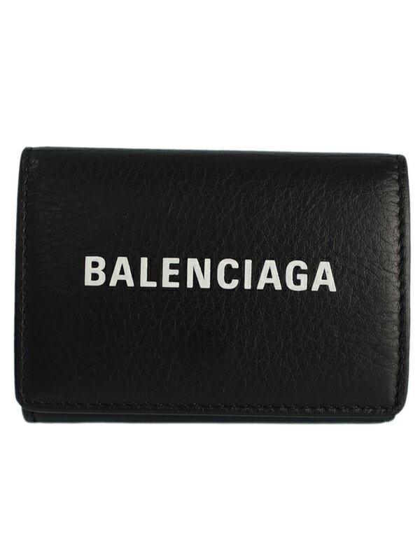 【BALENCIAGA】バレンシアガ『エブリデイ ミニ ウォレット』505055 メンズ レディース 三つ折り短財布 1週間保証【中古】