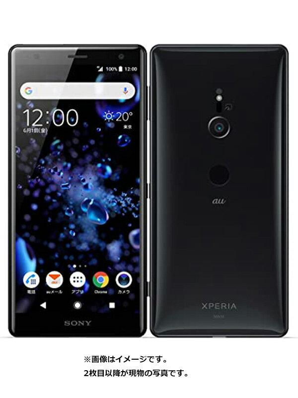 【SONY】【エクスペリア】ソニー『Xperia XZ2 64GB auのみ リキッドブラック』SOV37 2018年5月発売 スマートフォン 1週間保証【中古】