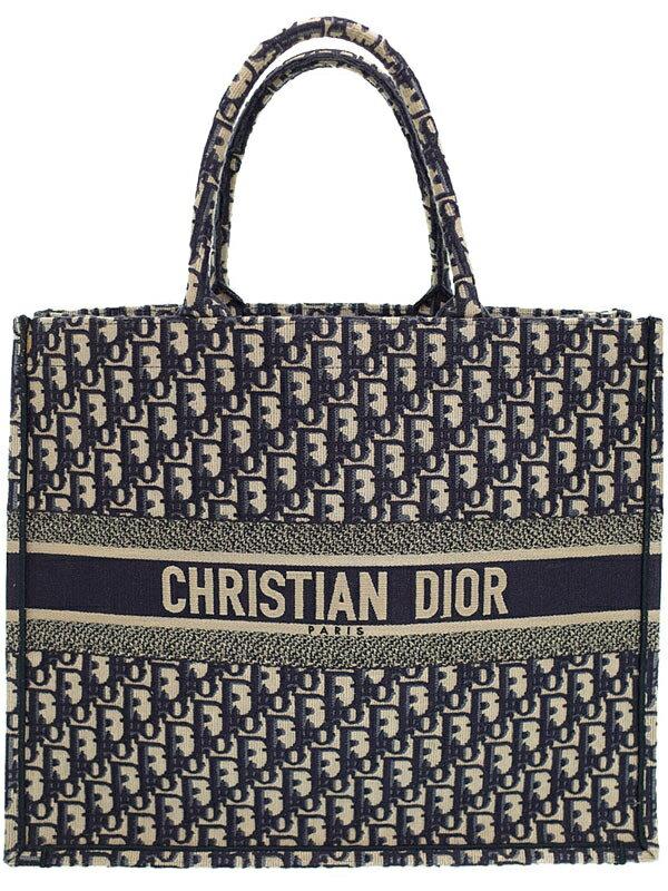 【Christian Dior】クリスチャンディオール『ディオール オブリーク ブックトート』M1286ZRIW レディース トートバッグ 1週間保証【中古】
