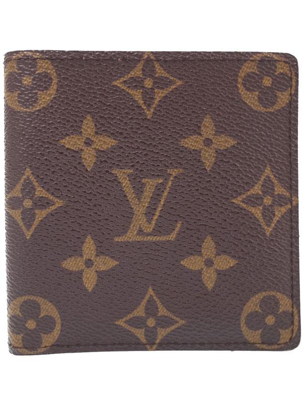 【LOUIS VUITTON】【小銭入れなし】ルイヴィトン『モノグラム ポルト カルト クレディ』M60929 メンズ 二つ折り短財布 1週間保証【中古】