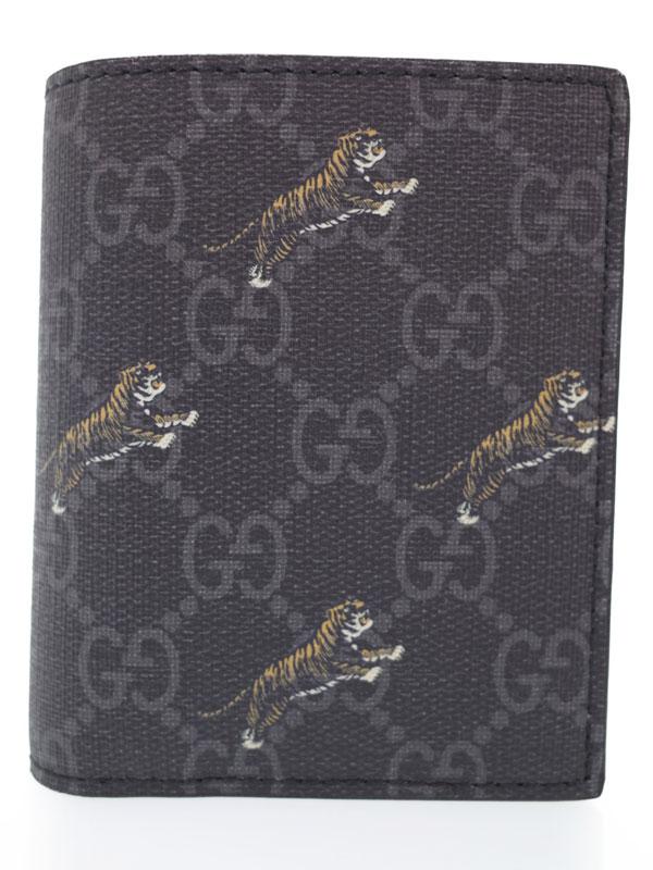 【GUCCI】グッチ『タイガープリント GG コインウォレット』575138 メンズ 二つ折り短財布 1週間保証【中古】