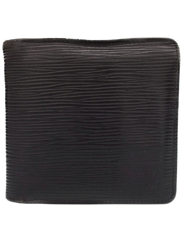 【LOUIS VUITTON】ルイヴィトン『エピ ポルトフォイユ マルコ』M63652 メンズ 二つ折り短財布 1週間保証【中古】