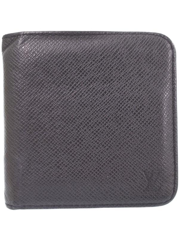 【LOUIS VUITTON】ルイヴィトン『タイガ ポルト ビエ モネ ジップ』M30672 メンズ 二つ折り短財布 1週間保証【中古】