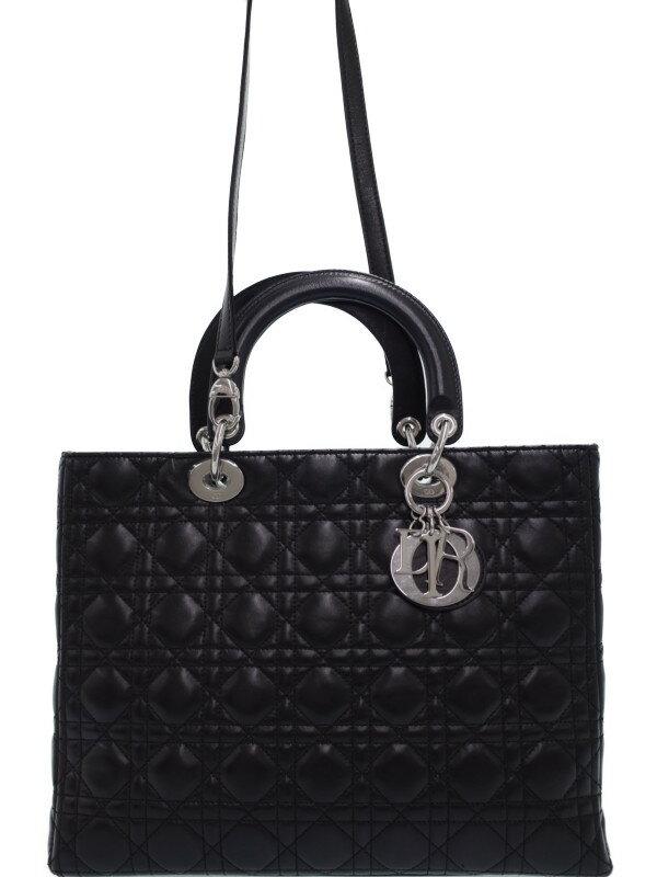 【Christian Dior】クリスチャンディオール『レディディオール(L)』レディース 2WAYバッグ トートバッグ 1週間保証【中古】