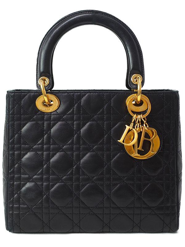 【Christian Dior】クリスチャンディオール『レディディオール(M)』レディース ハンドバッグ 1週間保証【中古】