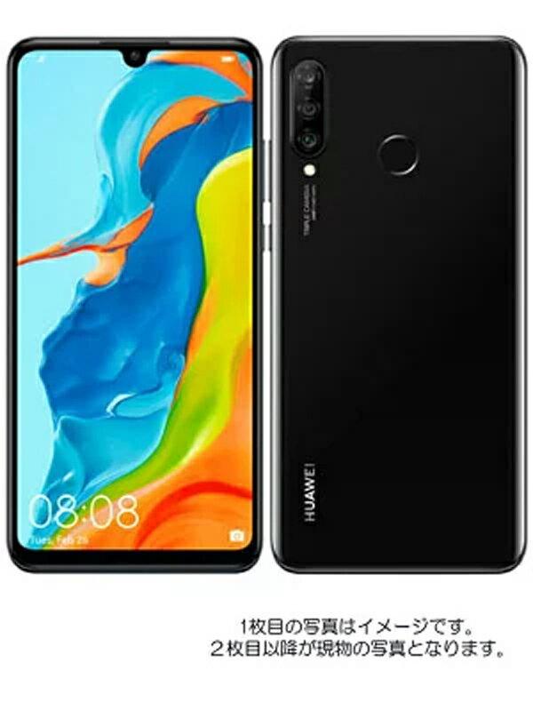 ファーウェイ『HUAWEI P30 lite 64GB Yモバイルのみ ミッドナイトブラック』MAR-LX2J【中古】