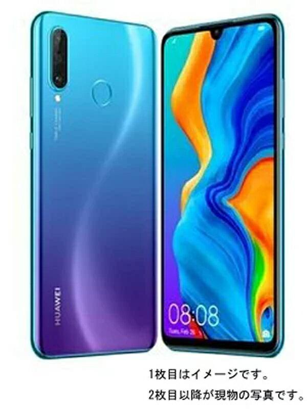 ファーウェイ『HUAWEI P30 lite 64GB Yモバイルのみ ピーコックブルー』MAR-LX2J 2019年8月発売 スマートフォン 1週間保証【中古】