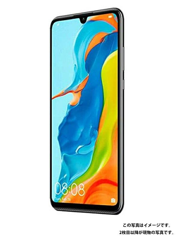 ファーウェイ『HUAWEI P30 lite 64GB Yモバイルのみ ミッドナイトブラック』MAR-LX2J 2019年8月発売 スマートフォン 1週間保証【中古】