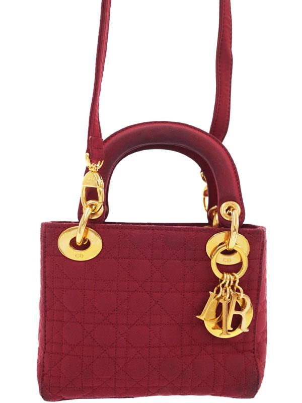 【Christian Dior】クリスチャンディオール『レディディオール(S)』レディース 2WAYバッグ 1週間保証【中古】