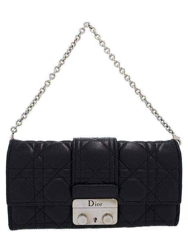 【Christian Dior】クリスチャンディオール『ミスディオール チェーンウォレット』レディース 二つ折り長財布 1週間保証【中古】