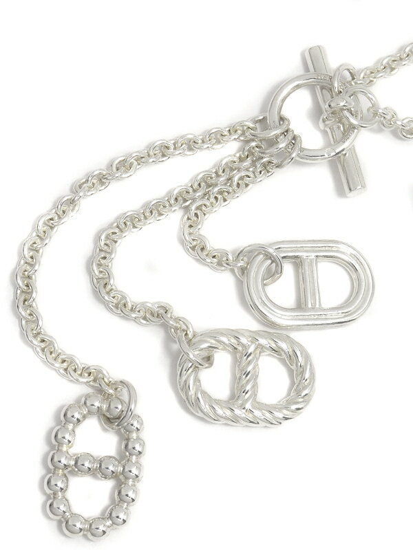 【HERMES】【Chaine d'Ancre】エルメス『SILVER シェーヌダンクル ラリエット ネックレス』1週間保証【中古】