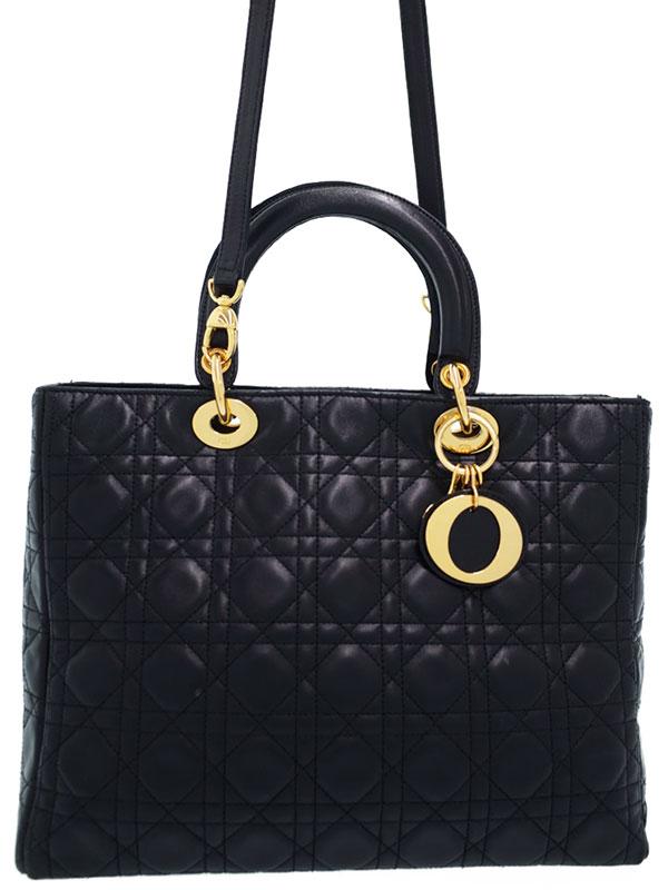 【Christian Dior】クリスチャンディオール『レディディオール(L)』レディース 2WAYバッグ 1週間保証【中古】