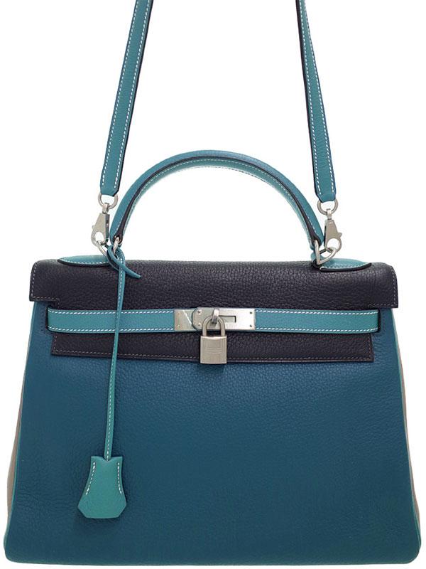 【HERMES】【シルバー金具】エルメス『ケリー32 内縫い』G刻印 2003年製 レディース 2WAYバッグ 1週間保証【中古】