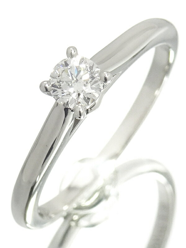 【Cartier】【仕上済】カルティエ『PT950 ソリテール リング ダイヤモンド 0.19ct』9.5号 1週間保証【中古】