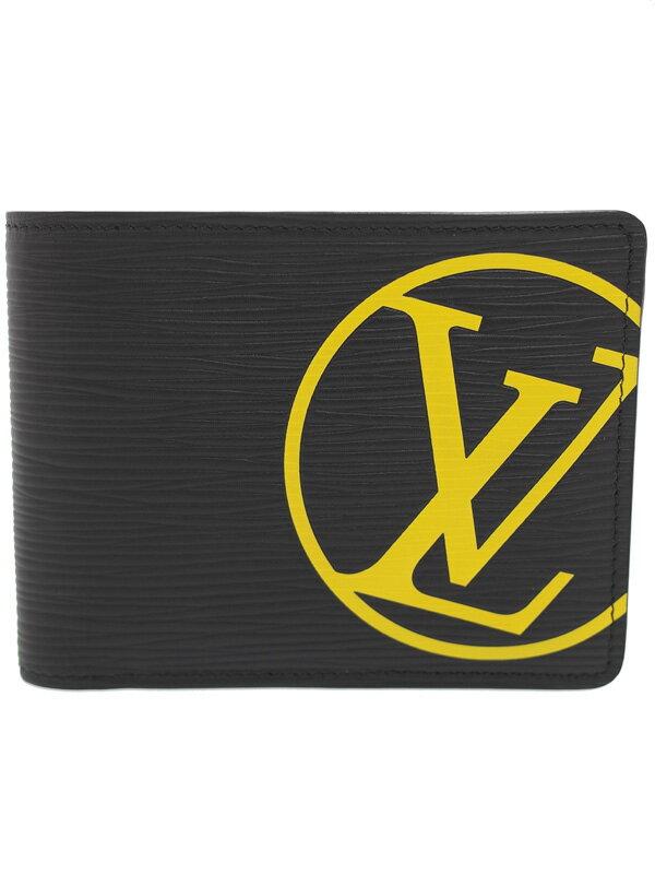 【LOUIS VUITTON】【LVサークル】【小銭入れ無し】ルイヴィトン『エピ ポルトフォイユ ミュルティプル』M67907 メンズ 二つ折り短財布 1週間保証【中古】