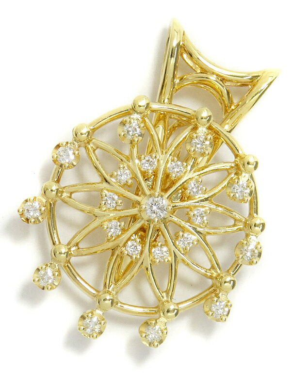 【TASAKI】タサキ『K18YG ダイヤモンド0.32ct ペンダントトップ』1週間保証【中古】