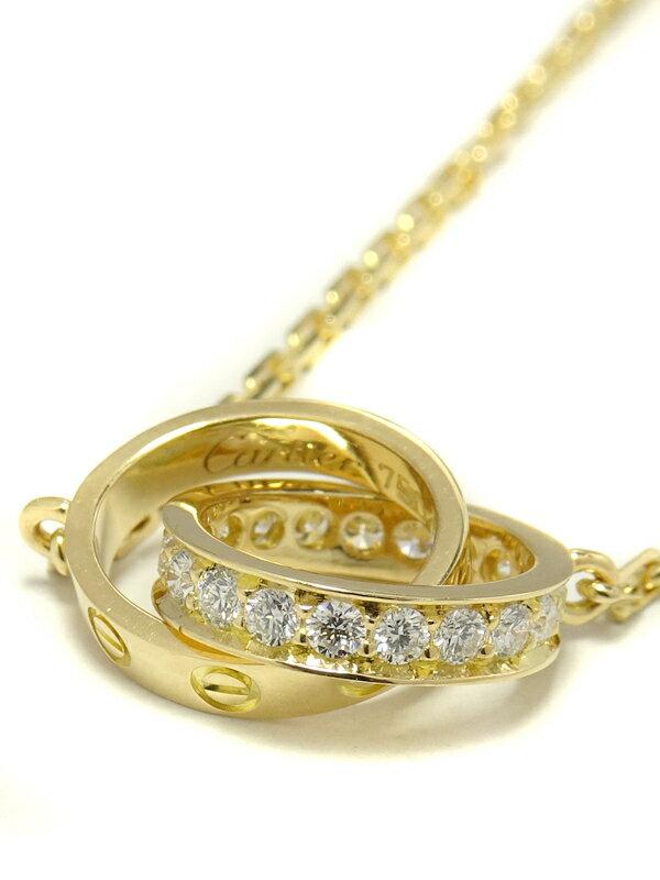 【Cartier】【仕上済】カルティエ『K18YG ベビーラブ ネックレス ダイヤモンド』1週間保証【中古】
