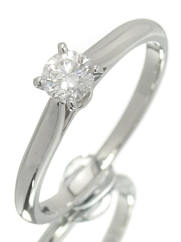 【Cartier】【仕上済】カルティエ『PT950 ソリテール リング ダイヤモンド0.21ct/D/VS-1/EXCELLENT』8.5号 1週間保証【中古】