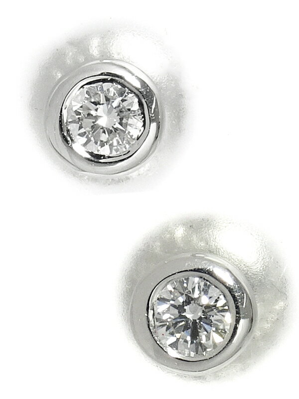 【TIFFANY&Co.】ティファニー『PT950 バイザヤード ダイヤモンド ピアス』1週間保証【中古】