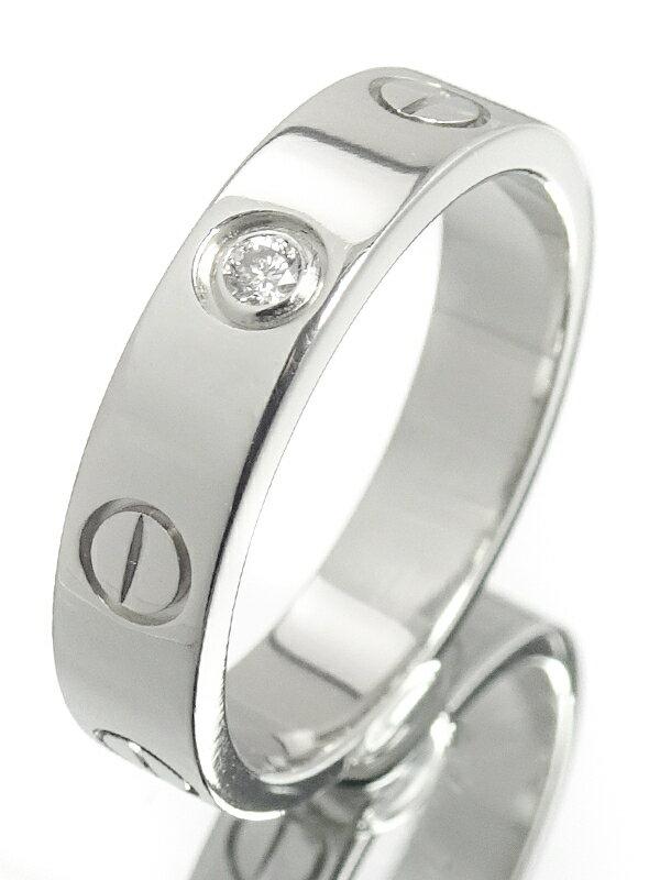 【Cartier】カルティエ『K18WG ミニラブリング 1Pダイヤモンド』8号 1週間保証【中古】