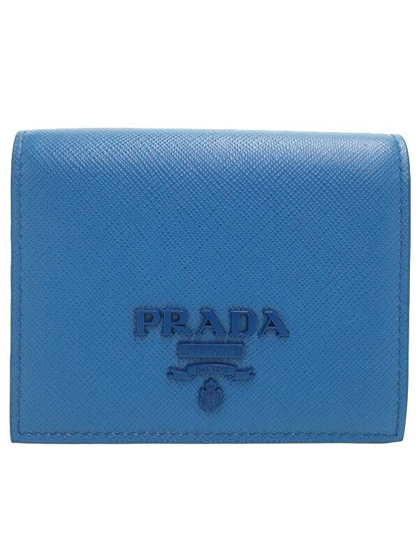 【PRADA】プラダ『サフィアーノレザー 二つ折り短財布』1MV204 レディース 1週間保証【中古】