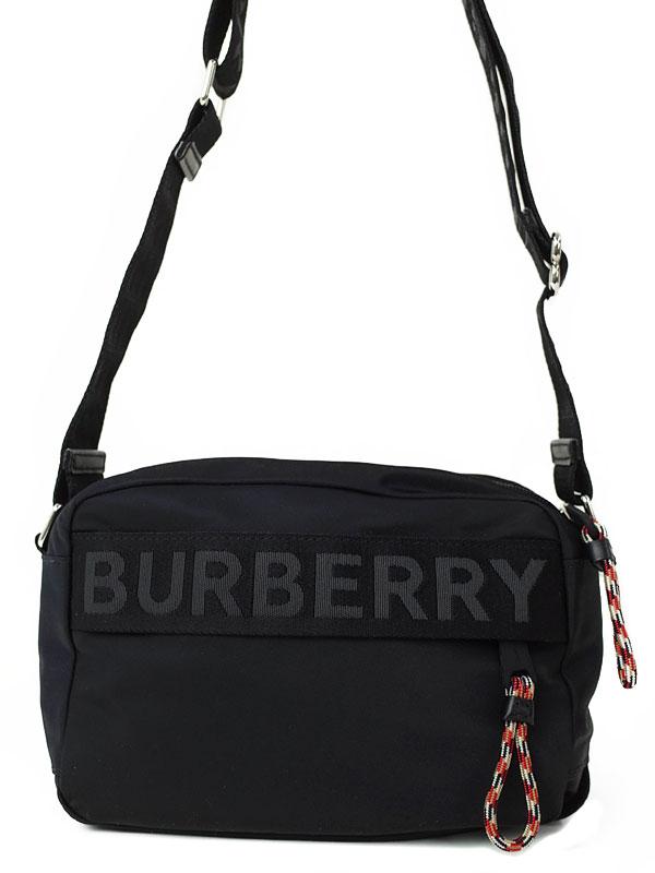 【BURBERRY】バーバリー『ロゴディテール クロスボディバッグ』80256691 メンズ ショルダーバッグ 1週間保証【中古】