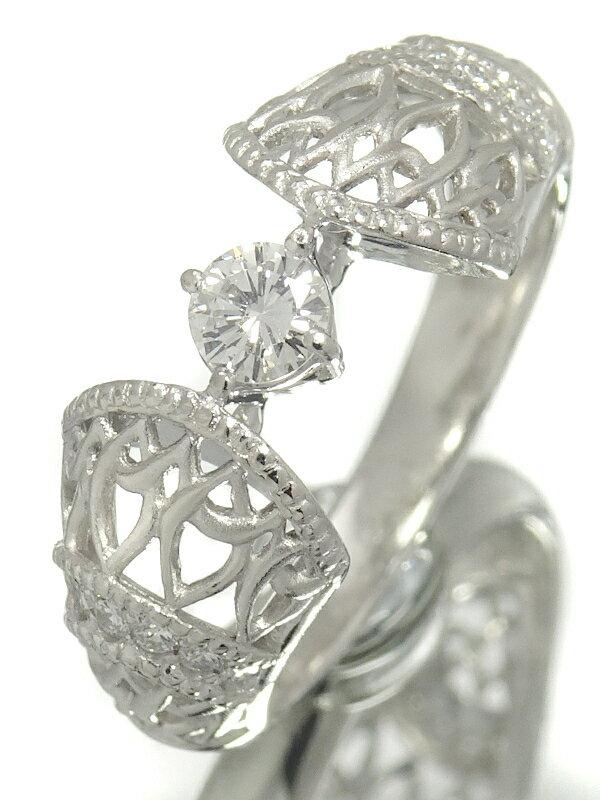 【星の砂】ホシノスナ『PT900 ダイヤモンド0.31ct リング』13.5号 1週間保証【中古】