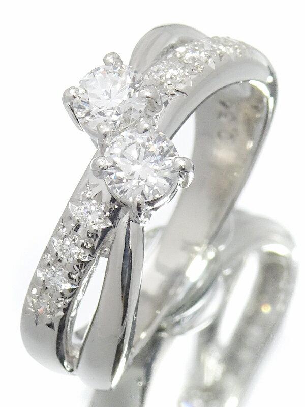 【TASAKI】タサキ『PT900 ダイヤモンド0.54ct リング』12号 1週間保証【中古】