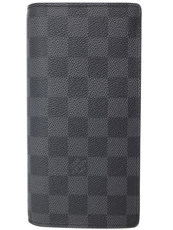 【LOUIS VUITTON】ルイヴィトン『ダミエ グラフィット ポルトフォイユ ブラザ』N62665 メンズ 二つ折り長財布 1週間保証【中古】