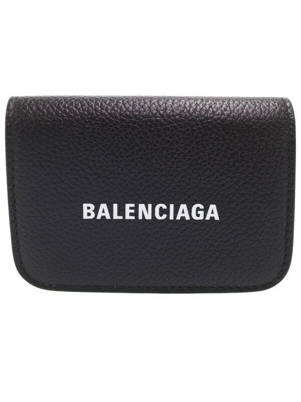 【BALENCIAGA】バレンシアガ『キャッシュ ミニ ウォレット』593813 レディース 三つ折り短財布 1週間保証【中古】