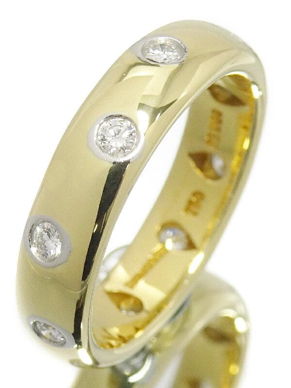 【TIFFANY&Co.】ティファニー『K18YG/PT950 ダイヤモンド ドッツ バンドリング』7.5号 1週間保証【中古】