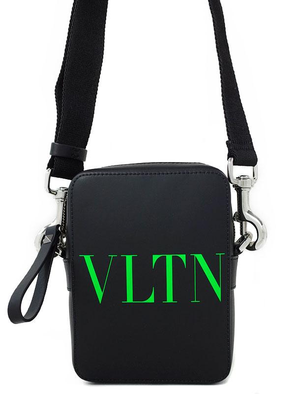 【VALENTINO GARAVANI】ヴァレンティノガラヴァーニ『VLTN レザー スモール クロスボディバッグ』メンズ ショルダーバッグ 1週間保証【中古】