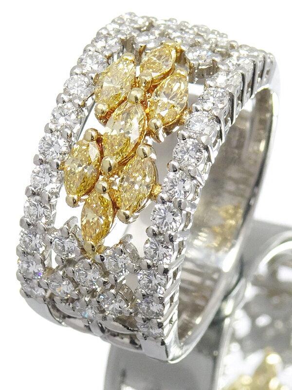 【TASAKI】【仕上済】タサキ『PT900/K18YG ダイヤモンド1.43ct リング』12号 1週間保証【中古】