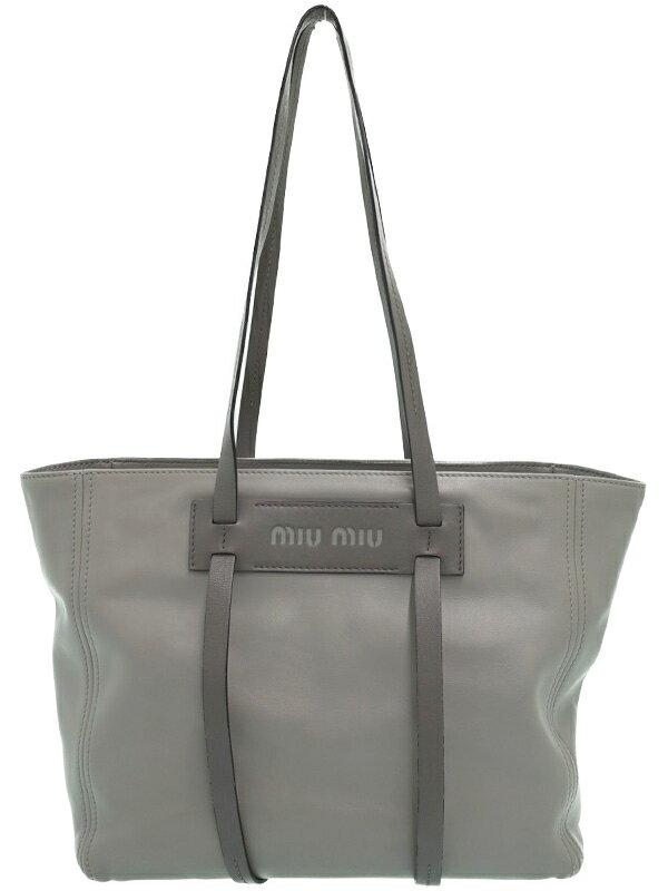 【MIU MIU】ミュウミュウ『レザー トートバッグ』レディース 1週間保証【中古】