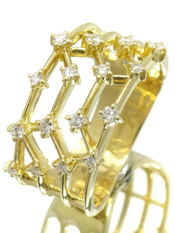【TASAKI】タサキ『K18YG ダイヤモンド0.29ct リング』17号 1週間保証【中古】