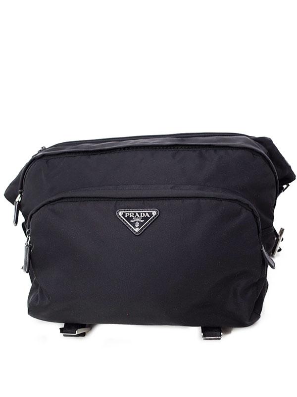 【PRADA】プラダ『テクニカル ファブリック バッグ』2VH021 メンズ ボディバッグ 1週間保証【中古】