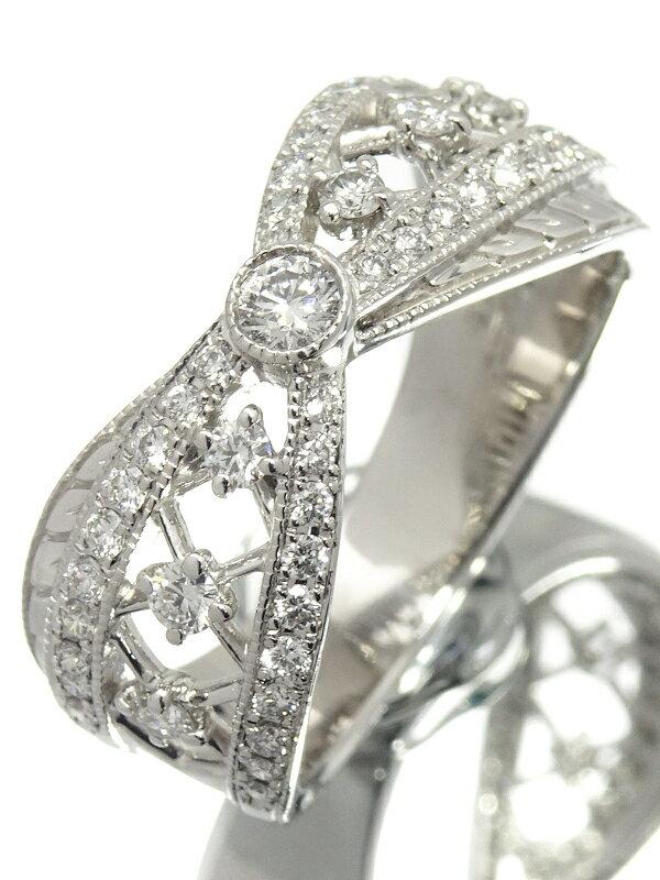 【MIKIMOTO】ミキモト『K18WG ダイヤモンド0.48ct リング』16号 1週間保証【中古】