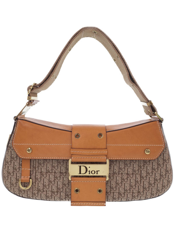 【Christian Dior】クリスチャンディオール『トロッター柄 セミショルダーバッグ』レディース 1週間保証【中古】