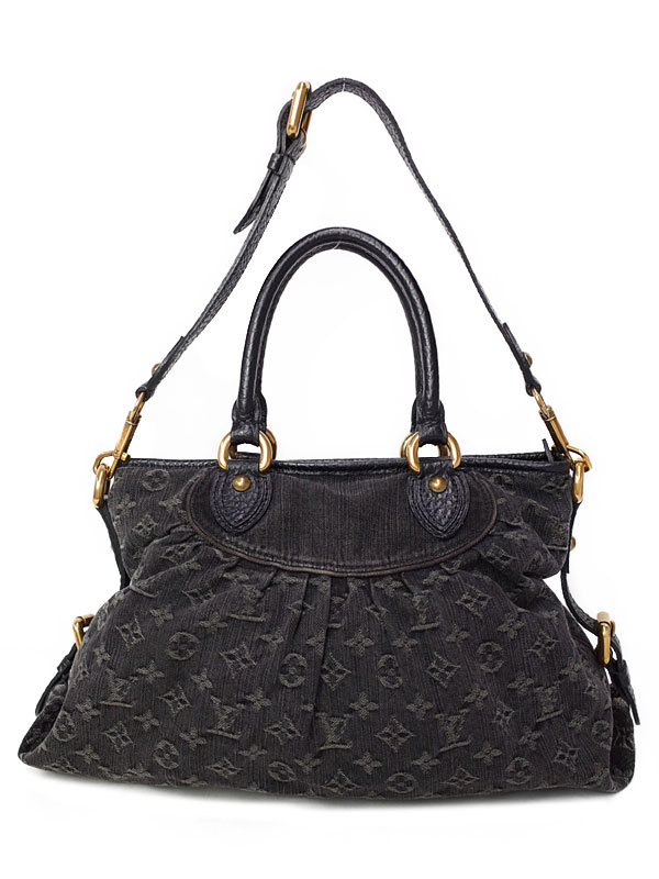 【LOUIS VUITTON】【made in U.S.A】ルイヴィトン『モノグラム デニム ネオ カヴィMM』M95351 レディース 2WAYバッグ 1週間保証【中古】