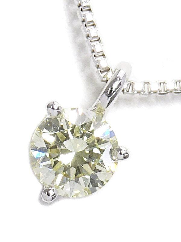 【TASAKI】タサキ『K18WG 1Pダイヤモンド0.25ct ネックレス』1週間保証【中古】