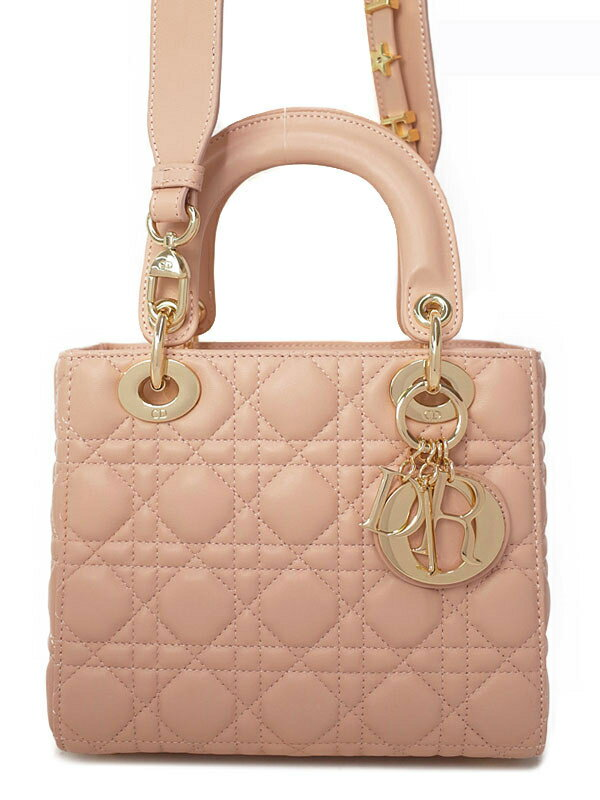 【Christian Dior】【マイレディディオール 】クリスチャンディオール『LADY DIOR MY ABCDIOR バッグ』M0538OCAL_M413 レディース 2WAYバッグ 1週間保証【中古】