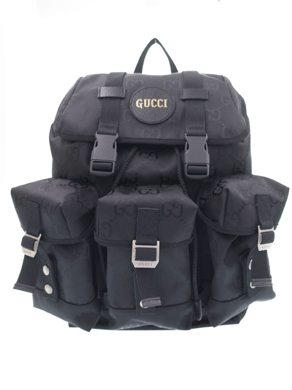 【GUCCI】【Gucci Off the Grid】【リュックサック】グッチ『Gucci Off The Grid GGナイロン バックパック』626160 メンズ 1週間保証【中古】