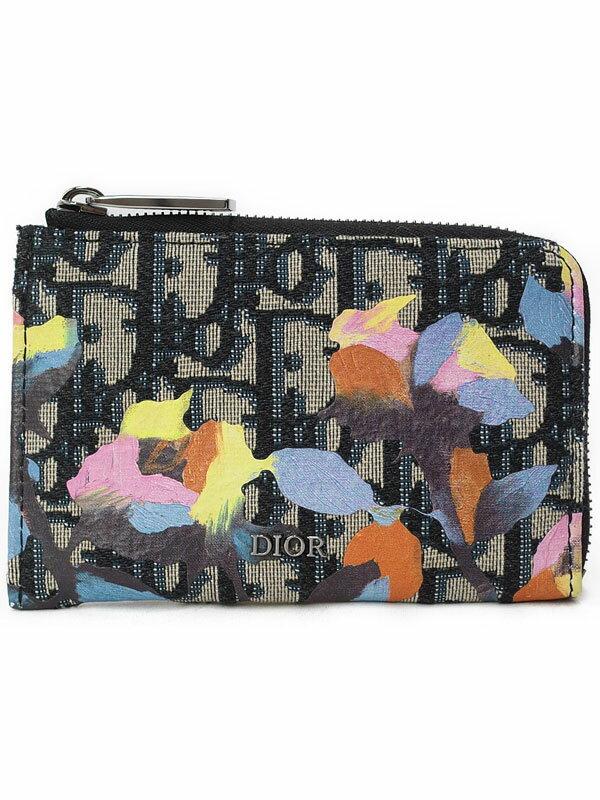 【Christian Dior】【DIOR×ALEX FOXTON】クリスチャンディオール『ディオール オブリーク ジップド カードホルダー』2OBBC094 カードケース 1週間保証【中古】