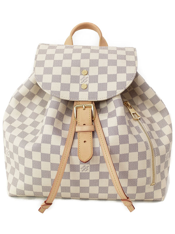 【LOUIS VUITTON】【リュックサック】ルイヴィトン『ダミエ アズール スペロン』N41578 レディース バックパック 1週間保証【中古】