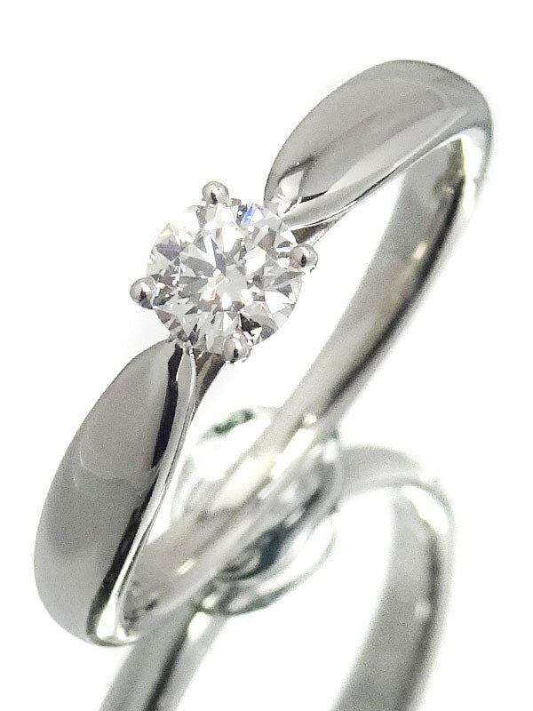 【TIFFANY&Co.】【鑑定書】ティファニー『PT950 ハーモニーリング 1Pダイヤモンド0.21ct/E/VVS-2/EXCELLENT』6.5号 1週間保証【中古】