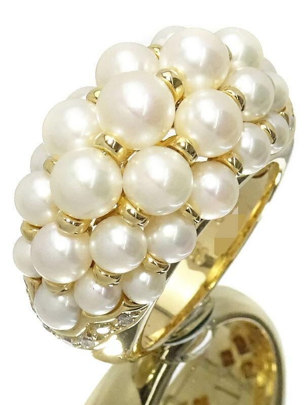 【Cartier】【メーカー仕上済】カルティエ『K18YG アンドロマック リング パール ダイヤモンド』12号 1週間保証【中古】